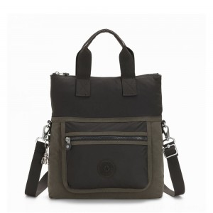 Kipling ELEVA Shoulderbag with Removable and Adjustable Strap Cold Black Olive