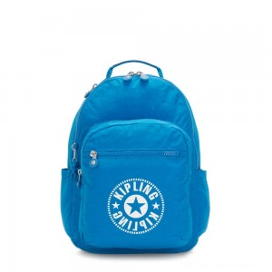 Kipling SEOUL Water Repellent Backpack with Laptop Compartment Methyl Blue Nc