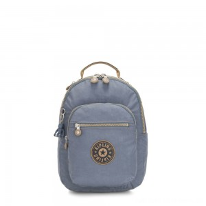 Kipling SEOUL S Small Backpack with Tablet Compartment Stone Blue Block