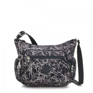 Black Friday 2020 - Kipling GABBIE S Crossbody Bag with Phone Compartment Navy Stick Print