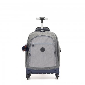 Kipling ECHO Wheeled School Bag Ash Denim Bl