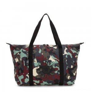 Black Friday 2020 - Kipling ART PACKABLE Large Foldable Tote Bag Camo Large Light