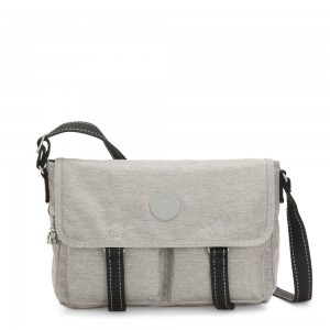 Black Friday 2020 - Kipling IKIN Medium Messenger Crossbody Bag Chalk Grey