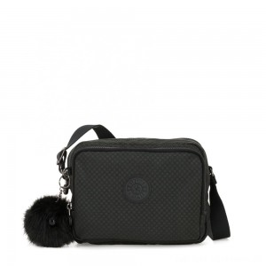 Kipling SILEN Small Across Body Shoulder Bag Powder Black