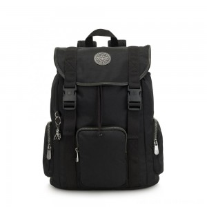 Kipling IZIR Medium, buckle closure backpack Rich Black