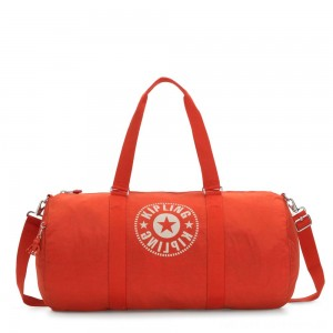 Black Friday 2020 - Kipling ONALO L Large Duffle Bag with Zipped Inside Pocket Funky Orange Nc