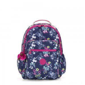 Black Friday 2020 - Kipling D SEOUL GO Large Backpack with Laptop protection Doodle Blue