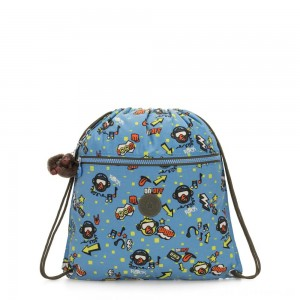 Kipling SUPERTABOO Medium Drawstring Bag Monkey Rock