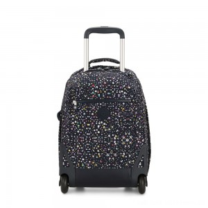 Black Friday 2020 - Kipling SOOBIN LIGHT Large wheeled backpack with laptop protection Happy Dot Print