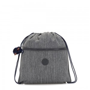 Black Friday 2020 - Kipling SUPERTABOO Medium Drawstring Bag Ash Denim Bl
