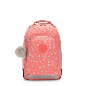 Kipling CLASS ROOM Large backpack with laptop protection Hearty Pink Met