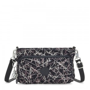 Black Friday 2020 - Kipling MYRTE Small 2 in 1 Crossbody and Pouch Navy Stick Print