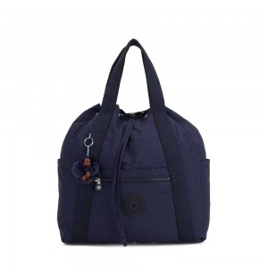 Kipling ART BACKPACK M Medium Drawstring Backpack Active Blue