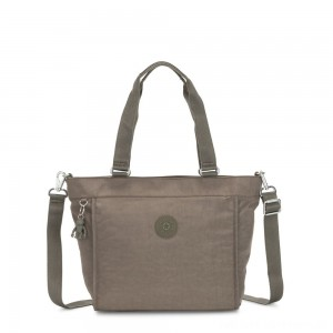 Black Friday 2020 - Kipling NEW SHOPPER S Small Shoulder Bag With Removable Shoulder Strap Seagrass
