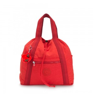 Kipling ART BACKPACK M Medium Drawstring Backpack Active Red