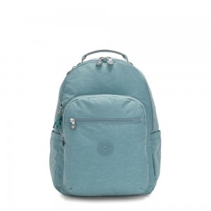 Kipling SEOUL Large backpack with Laptop Protection Aqua Frost