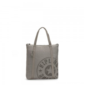 Black Friday 2020 - Kipling MORAL Large Tote Bag with Shoulder strap Rapid Grey