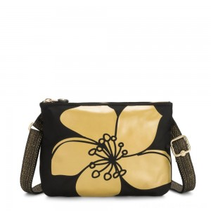 Black Friday 2020 - Kipling MAI POUCH Large Pouch Convertible to Crossbody Gold Flower