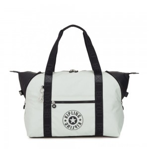 Kipling ART M Multi-use medium tote with trolley sleeve White Blue Bl