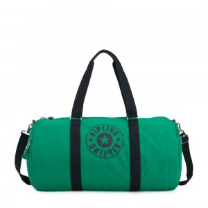Kipling ONALO L Large Duffle Bag with Zipped Inside Pocket Lively Green