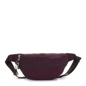 Black Friday 2020 - Kipling SARA Medium Bumbag Convertible to Crossbody Bag Dark Plum