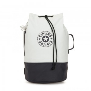 Black Friday 2020 - Kipling ETOKO Large drawstring bag with backpack straps White Blue Bl
