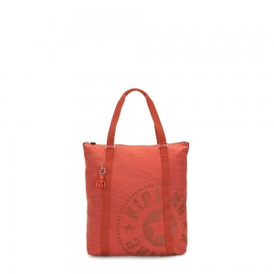 Kipling MORAL Large Tote Bag with Shoulder strap Hearty Orange