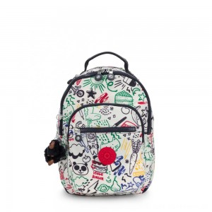 Black Friday 2020 - Kipling SEOUL GO S Small Backpack Doodle Play Bl