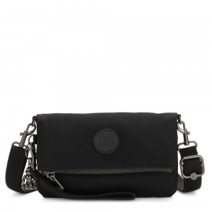 Black Friday 2020 - Kipling LYNNE Small Crossbody Bag with Removable Adjustable Shoulder strap Rich Black