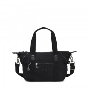Black Friday 2020 - Kipling ART MINI Mini Tote Bag with Detachable Shoulder Strap Rich Black