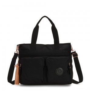 Kipling ESIANA Expandable Medium Tote Bag (fits laptop) Rose Black