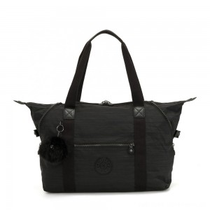 Kipling ART M Travel Tote With Trolley Sleeve True Dazz Black