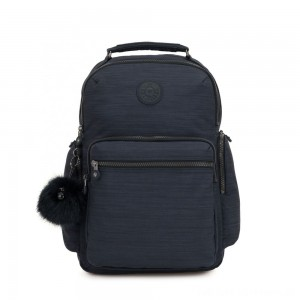 Kipling OSHO Large backpack with organsiational pockets True Dazz Navy