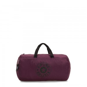 Kipling ONALO PACKABLE Medium Foldable Weekend Bag Plum Light