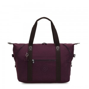 Black Friday 2020 - Kipling ART M Travel Tote With Trolley Sleeve Dark Plum