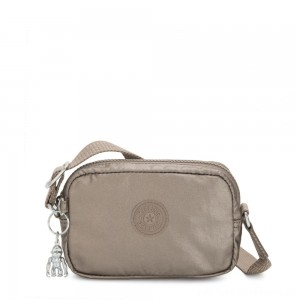 Kipling SOUTA Small Crossbody with Adjustable Shoulder Strap Metallic Pewter Gifting