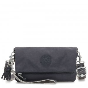 Kipling LYNNE Small Crossbody Bag with Removable Adjustable Shoulder strap Night Grey