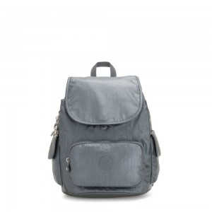 Black Friday 2020 - Kipling CITY PACK S Small Backpack Steel Grey Metallic