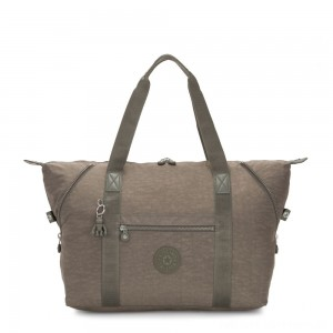 Kipling ART M Travel Tote With Trolley Sleeve Seagrass