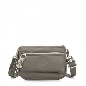 Black Friday 2020 - Kipling TULIA Small Puff effect 2-in-1 Crossbody/Bum Bag Mountain Grey