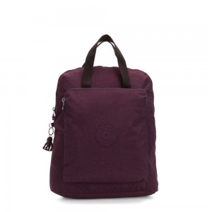 Black Friday 2020 - Kipling KAZUKI Large 2-in-1 Shoulderbag and Backpack Dark Plum