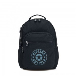 Black Friday 2020 - Kipling CLAS SEOUL Water Repellent Backpack with Laptop Compartment Lively Navy