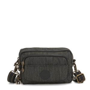 Kipling MULTIPLE Waist Bag Convertible to Shoulder Bag Black Indigo
