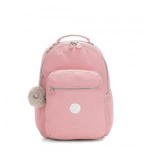 Kipling SEOUL Large Backpack with Laptop Protection Bridal Rose