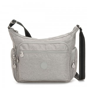 Kipling GABBIE Medium Shoulder Bag Chalk Grey