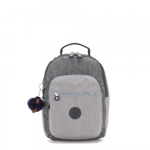 Kipling SEOUL GO S Small Backpack Ash Denim Bl