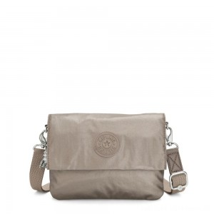 Black Friday 2020 - Kipling OSYKA 2 in 1 Crossbody and Pouch with Card Slots Metallic Pewter Gifting