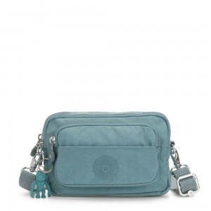 Kipling MULTIPLE Waist Bag Convertible to Shoulder Bag Aqua Frost