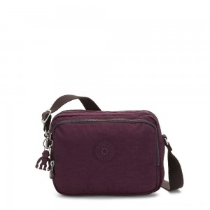 Black Friday 2020 - Kipling SILEN Small Across Body Shoulder Bag Dark Plum