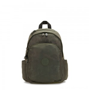 Black Friday 2020 - Kipling DELIA Medium Backpack with Front Pocket and Top Handle Satin Camo